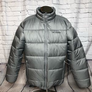 Columbia thermal coil gray winter puffy coat med